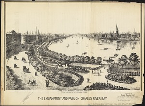 The embankment and park on Charles River Bay
