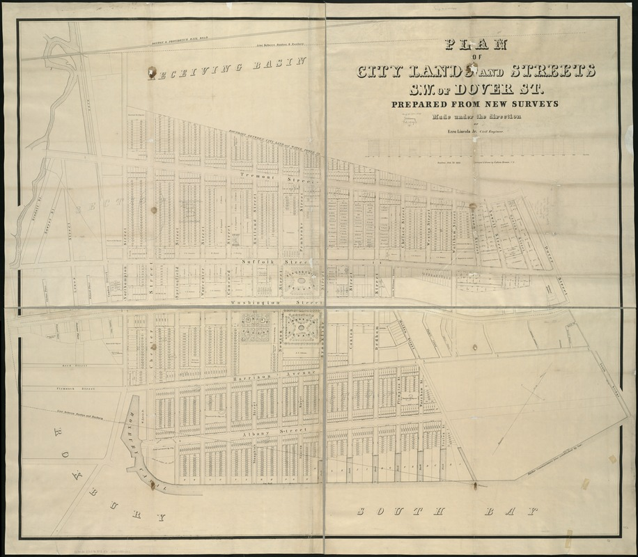 Plan of city lands and streets s.w. of Dover St