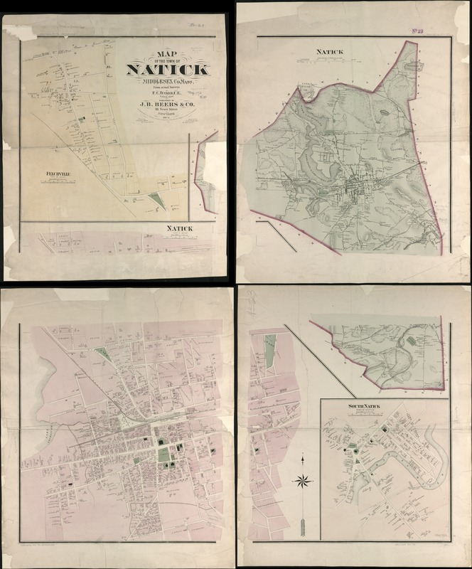Map of the town of Natick Middlesex Co. Mass