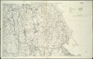 Map of maneuver ground, Massachusetts, 1909