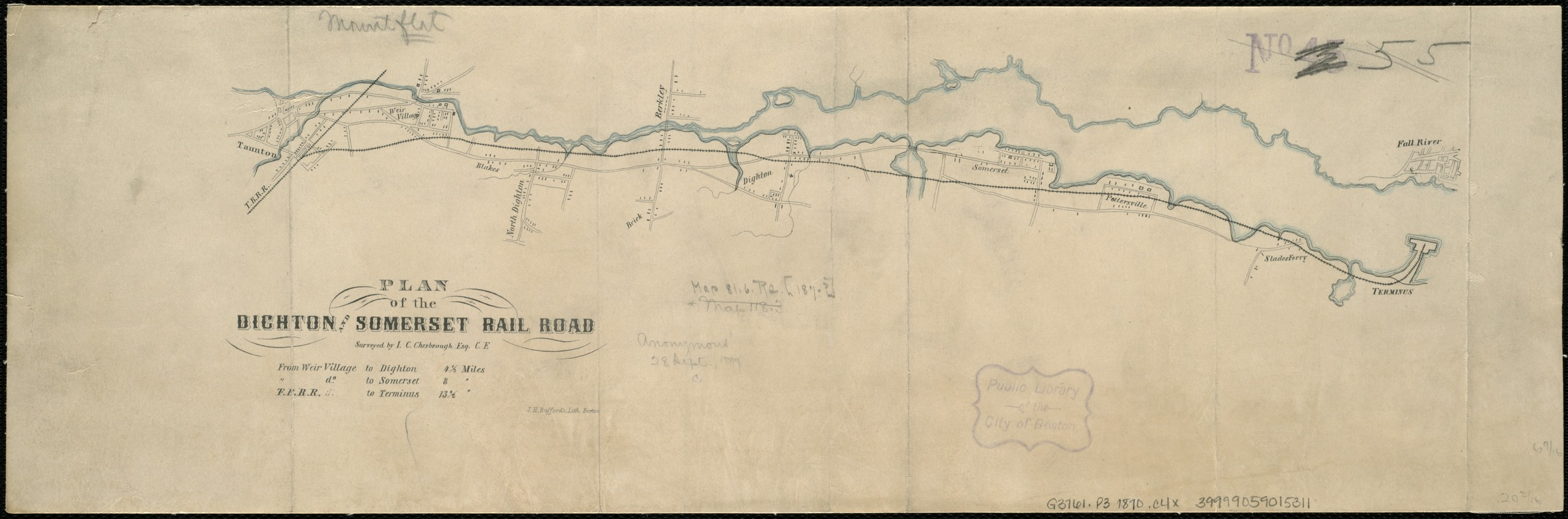 Plan of the Dighton and Somerset rail road