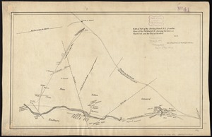 Plan of part of the Sterling Branch R.R. from the plans of the Fitchburg R.R. shewing [sic] the line as chartered and the line as located