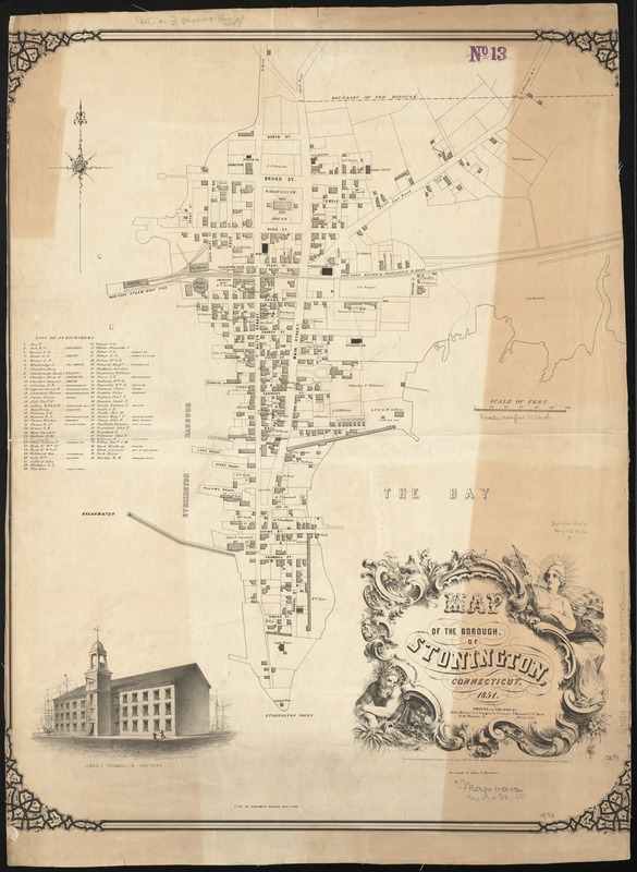 Map of the borough, of Stonington, Connecticut, 1851