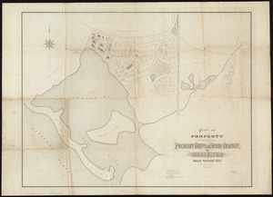 Plan of property belonging to the Pocasset Grove and Shore Company, at Cataumet, South Pocasset, Mass