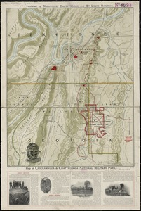 Map of Chickamauga & Chattanooga National Park