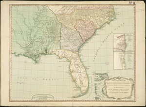 A new and general map of the Southern dominions belonging to the United States of America, viz North Carolina, South Carolina, and Georgia