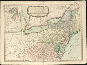 A new and general map of the middle dominions belonging to the United States of America, viz. Virginia, Maryland, the Delaware-counties, Pennsylvania, New Jersey &c. with the addition of New York, & of the greatest part of New England &c as also of the bordering parts of the British possessions in Canada