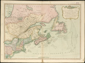 A New and correct map of the British colonies in North America comprehending eastern Canada with the province of Quebec, New Brunswick, Nova Scotia, and the Government of Newfoundland