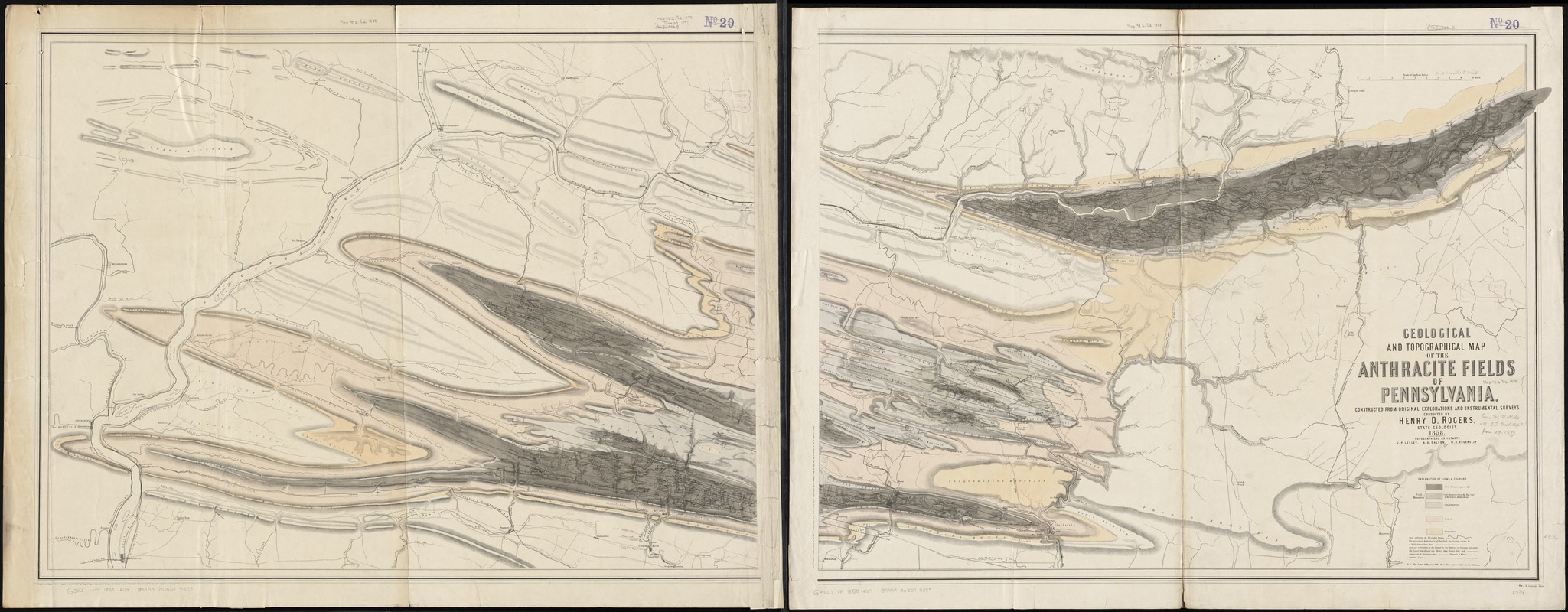 Geological and topographical map of the anthracite fields of Pennsylvania