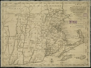 A map of the province of Massachusets Bay and colony of Rhode Island, with part of Connecticut, New Hampshire, and Vermont