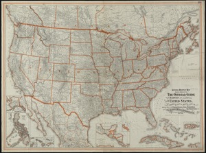 General railway map engraved expressly for the Official guide of the railways and steam navigation lines of the United States, Porto Rico, Canada, Mexico and Cuba, comprising maps of the United States, Cuba, Porto Rico, the Philippines, etc