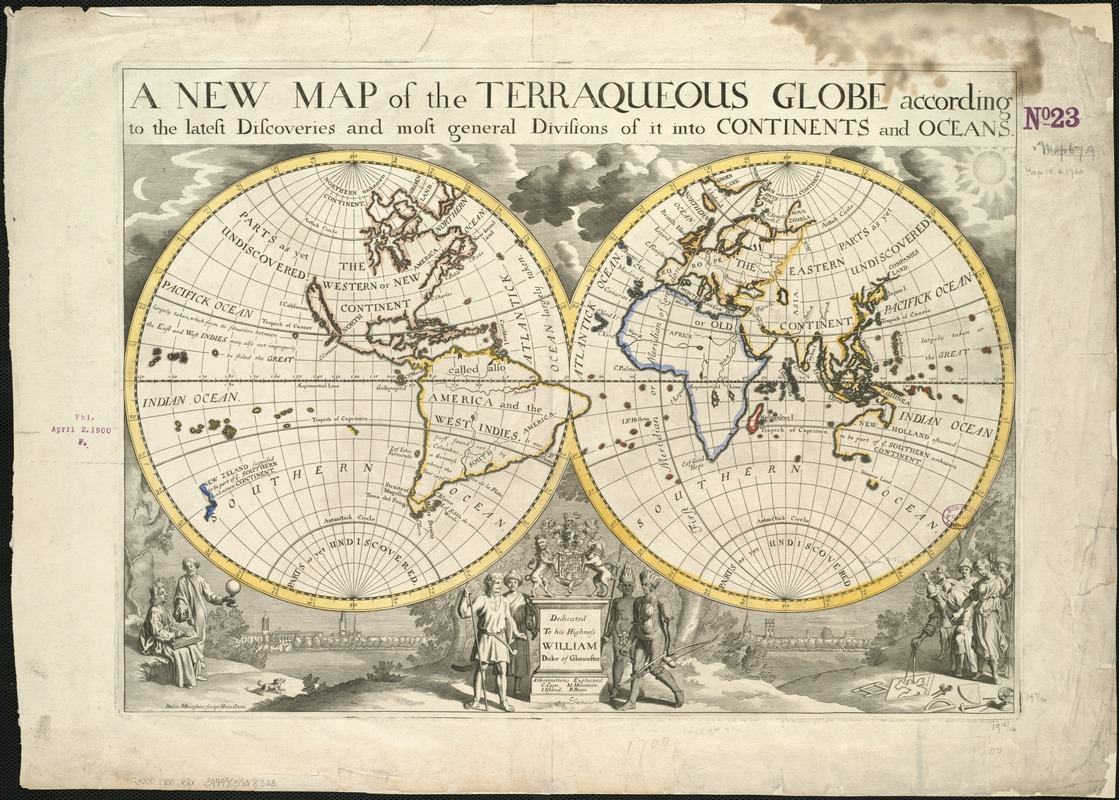 A new map of the terraqueous globe according to the latest