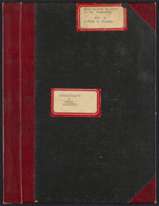 Sacco-Vanzetti Case Records, 1920-1928. Transcripts. Bound Trial Transcripts, Vol. 9, pp. 3403-finish (belonging to Mr. McAnarney). Box 33, Folder 3, Harvard Law School Library, Historical & Special Collections