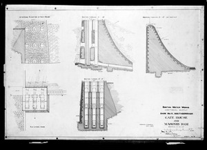 Engineering Plans, Dam No. 5 [Sudbury Dam], Gatehouse and Masonry Dam, Sheet No. 4, Southborough, Mass., Jan. 16, 1894