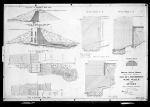 Engineering Plans, Dam No. 5 [Sudbury Dam], wing walls and outlet, Sheet No. 5, Southborough, Mass., Jan. 16, 1894
