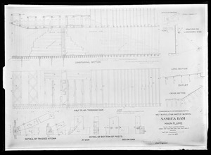 Engineering Plans, Wachusett Dam, main flume, Clinton, Mass., Jul. 26, 1897