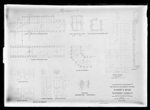 Engineering Plans, Wachusett Dam, temporary conduit, Clinton, Mass., Jul. 26, 1897