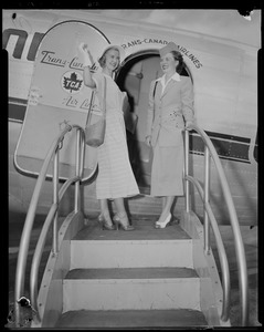 Barbara Ann Scott and Trans-Canada flight attendant