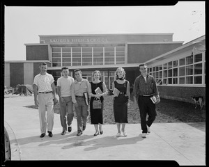Group of students in front of Saugus High School