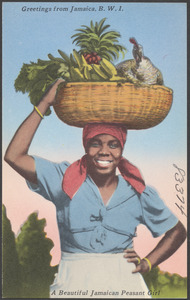 Greetings from Jamaica, B.W.I. A beautiful Jamaican peasant girl