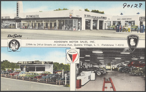 Ashdown Motor Sales, Inc. 239th to 241st Streets on Jamaica Ave., Queens Village, L. I.