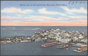 Aerial view of the waterfront, San Juan, Puerto Rico