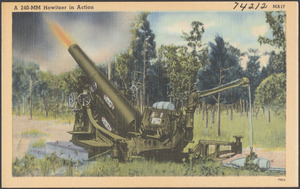 A 240-MM Howitzer in action