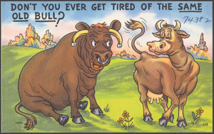 Don't you ever get tired of the same old bull?