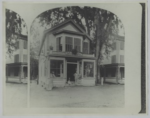 Newton photographs oversize - Newton Village Shops - B. F. Houghton Groceries -