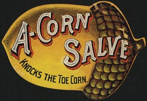 A-corn salve knocks the toe corn.