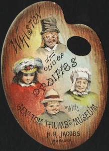 Whiston in his olio of oddities with Gen'l Tom Thumb's Museum, H. R. Jacobs, manager.