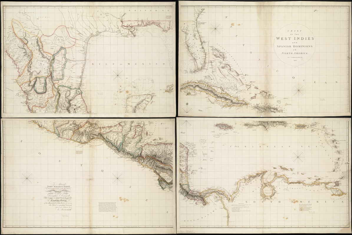 Chart of the West Indies and Spanish Dominions in North America