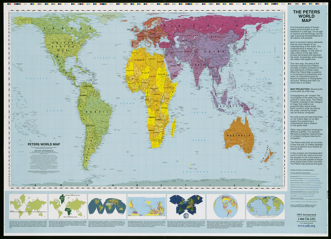 Peters World map - Norman B. Leventhal Map & Education Center
