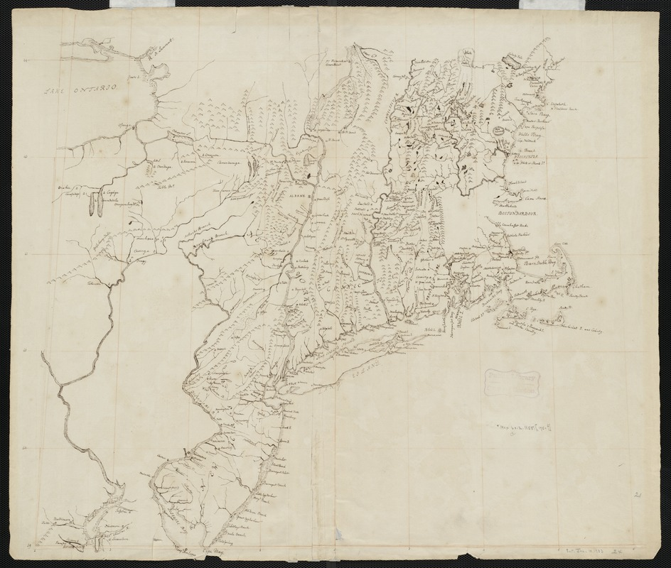 [Manuscript map of coast from Maine to Delaware]