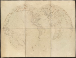 [Map of the world on a polyconic projection]