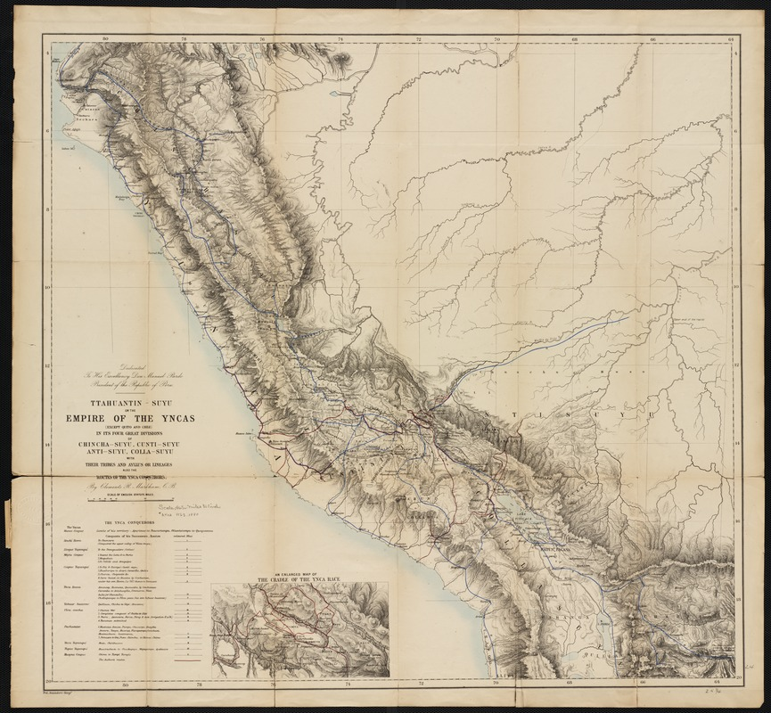 Ttahuantin-Suyu or the empire of the Yncas (except Quito and Chile) ... conquerers