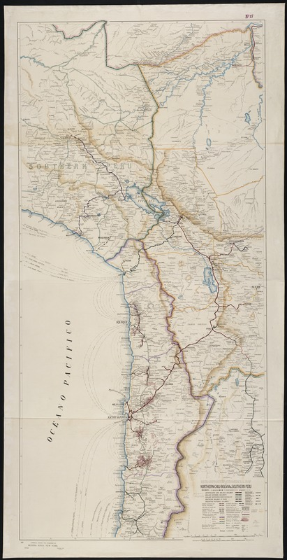 Richard Mayer's commercial map of Northern Chili, Bolivia & southern Peru
