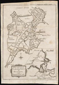 A new and correct plan of the town of Boston, and provincial camp