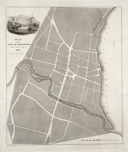 Plan of the city of Hartford from a survey made in 1824