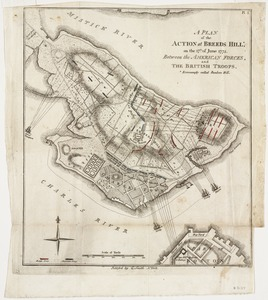 A plan of the action at Breeds Hill, on the 17th of June 1775