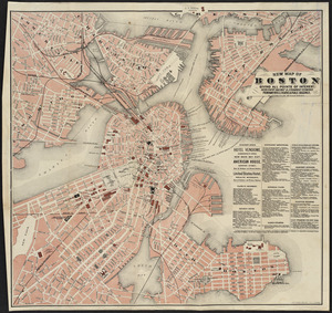 New map of Boston giving all points of interest