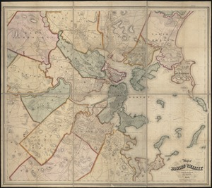 Map of Boston and its vicinity