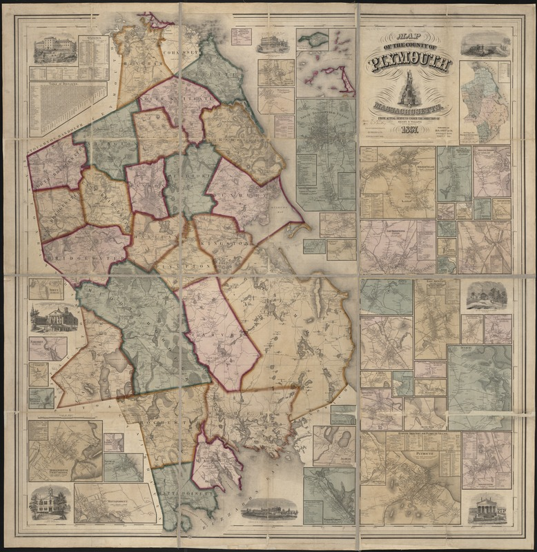 Map of the county of Plymouth, Massachusetts