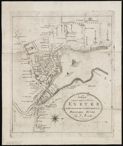 A plan of the compact part of the town of Exeter, at the head of the southerly branch of Piscataqua River