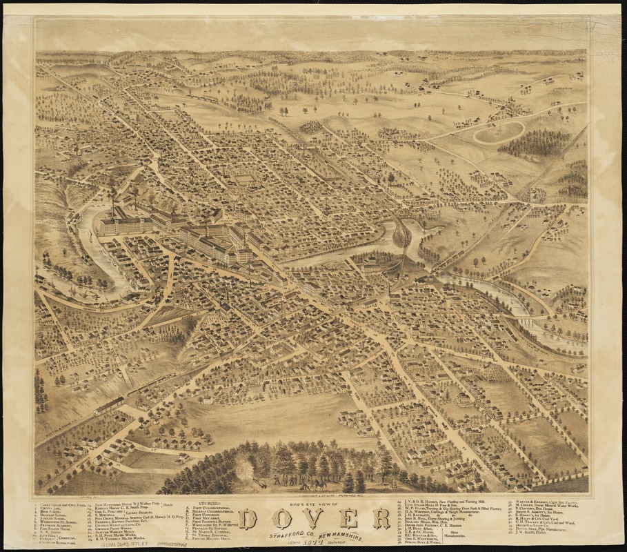 Bird's eye view of Dover, Strafford Co., New Hampshire