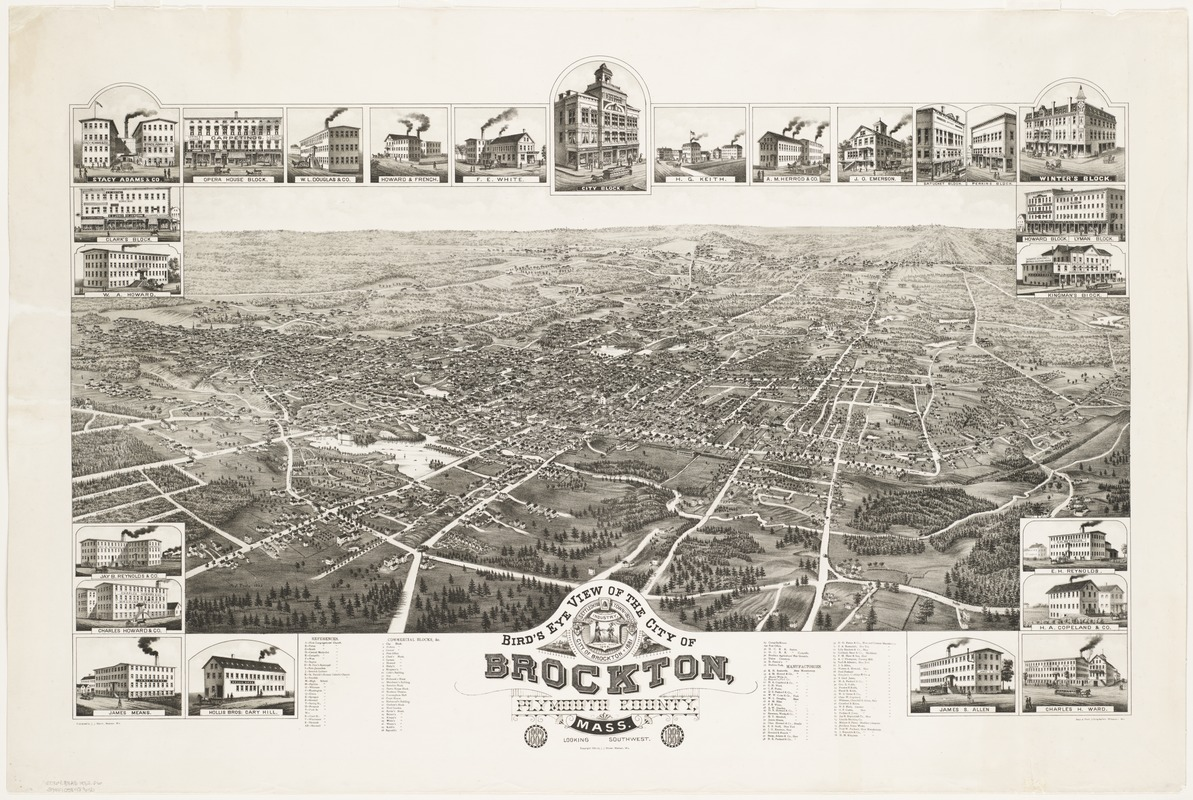Bird's eye view of the city of Brockton, Plymouth County, Mass