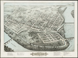 Bird's eye view of Holyoke, Mass