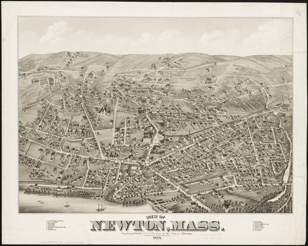 View of Newton, Mass