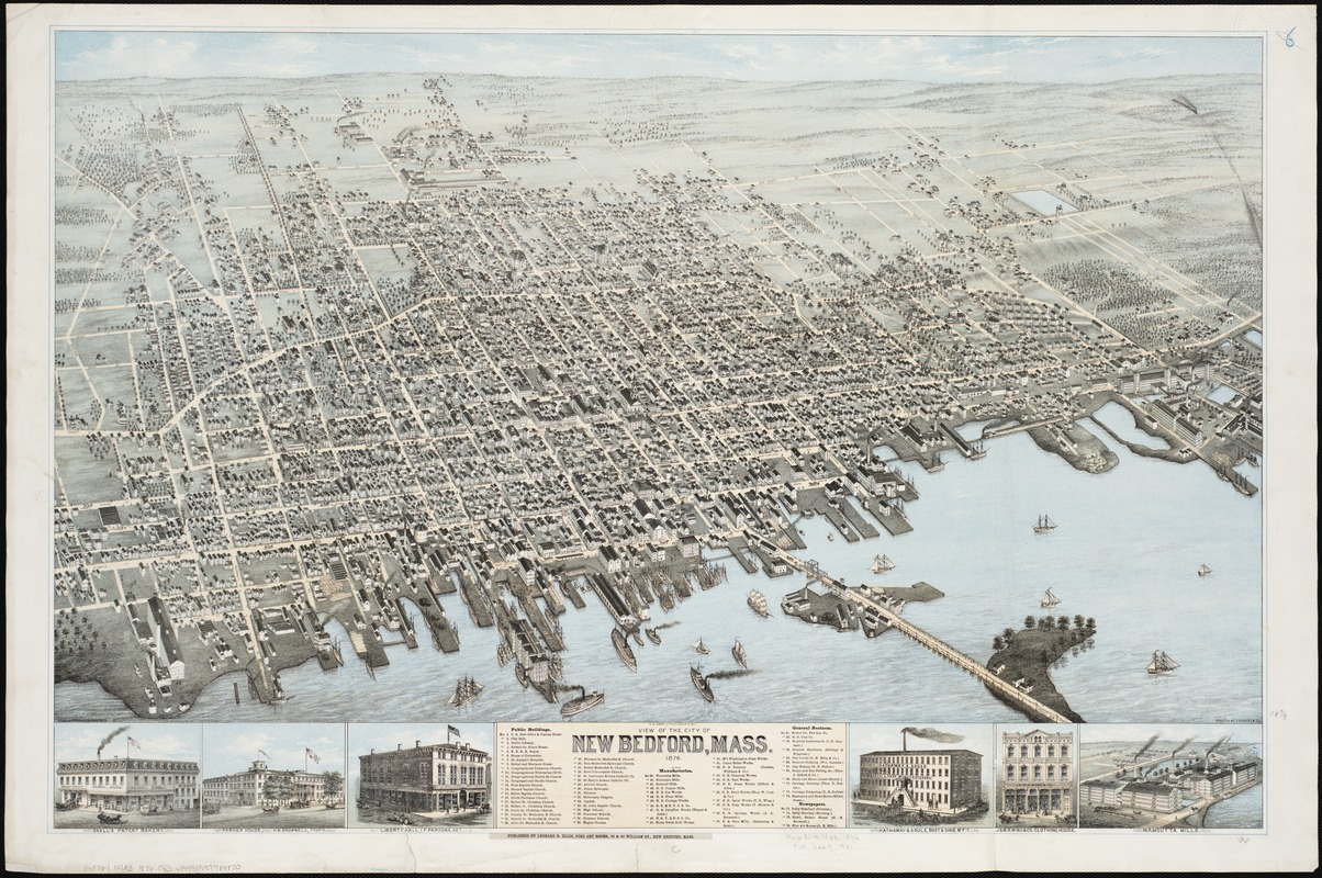 View of the city of New Bedford, Mass