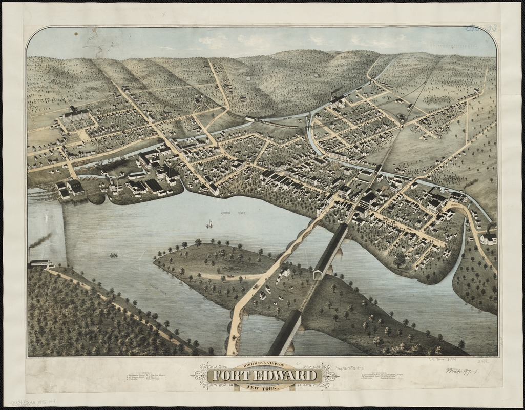 Bird's eye view of Fort Edward, New York
